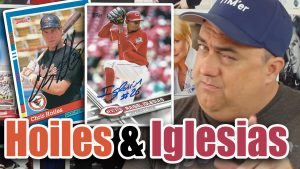 Raisel Iglesias and Chris Hoiles Autographs